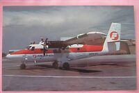 Frontier Airlines DeHavilland Canada DHC-6 Twin Otter  Aircraft Airline Postcard