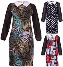 Chiffon Long Sleeve Plus Size Casual Dresses for Women