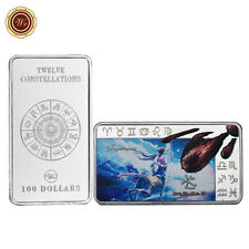 WR Collect 12 Constellations Sagittarius Zodiac Fine Silver Bar Gift for Her
