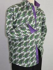 Men Shirt J.Valintin Turkey-Usa 100% Egyption Cotton Axxess Style A113-12 Green