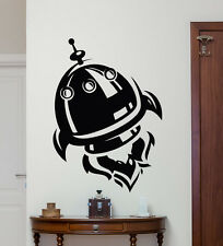 Spaceship Wall Decal Rocket Space Ship Vinyl Sticker Nursery Decor Mural 90xxx