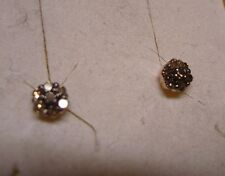 Champagne Diamond Stud Earrings  14 diamonds 14kRG overlay SS   .20tcw  MSRP$499