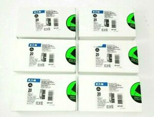 (10 PCS) NEW Eaton BRP120DF BR 1 pole 20A Dual Function Plug On Neutral Breaker