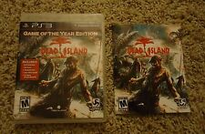 ORIGINAL CASE AND MANUAL ONLY Dead Island GOTY PS3 Sony PS Game Playstation 3