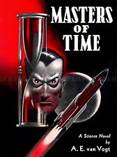 BOOK COVER 1950 MASTERS OF TIME SCI FI ROCKET GHOUL MOON ART POSTER PRINT LV1356