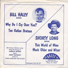 "Bill Haley ""Why Do I Cry Over You"" 1977 Arzee EP R2-137 Record & Picture Sleeve"