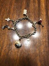Swarovski Cross, Glass, Cupcake, Heels, Purse, Bracelet Charms Swan Signed 7�