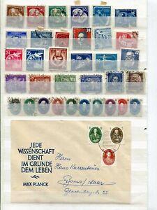 Steckkarte(n) mit Briefmarken aus Sammlernachlass, DDR, Anfangsjahre-ansehen