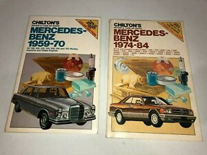 Chiltons Mercedes Benz 1959-70 & 1974-1984 Repair Tune Up Manual Lot