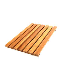 Bamboo Floor & Bath Mat Wood Shower Spa Anti Slip Wood Pad Durable Home Decor