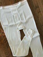 Vtg 70s 80s Maverick Waffled 50/50 Hunting Thermal Pants Long Johns Underwear XL