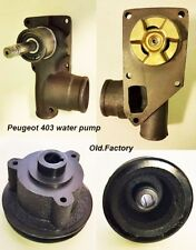> PEUGEOT 403  complete water pump w/pulley (all iron)  NEW RECENTLY MADE