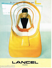 PUBLICITE ADVERTISING 065  1997  LANCEL   collection sac