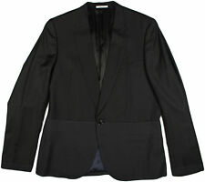 PAUL SMITH BLACK/NAVY MEN'S WOOL JACKET-48/38-MADE IN JAPAN