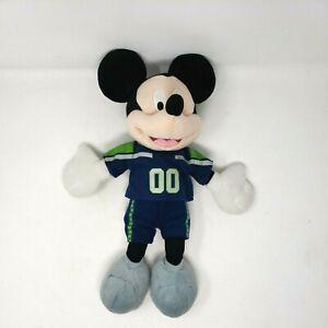 "DISNEY NFL 16"" MICKEY MOUSE Seattle Seahawks Football Jersey #00 PLUSH 2013"
