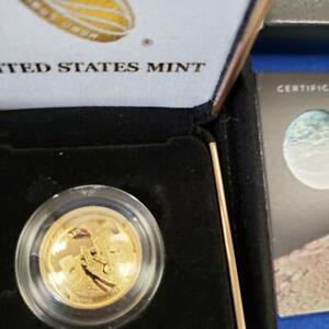 2019 W US MINT $5 Gold APOLLO proof Coin .24187AGW coa/boxes 19CA L10453