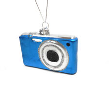 Noble Gems Blue Glass Digital Instamatic Camera Ornament by Kurt Adler