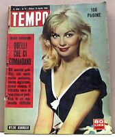 TEMPO - ANNO XXII N.17 - 23 APRILE 1960 - rivista, mylene demongeot -