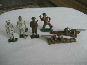 6 Manoil/Barclay-Grey Iron Soldiers
