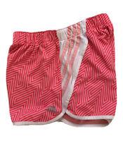 Womens Adidas Climalite Unlined Running Shorts Sz XS Pink Geometric 3 Stripes
