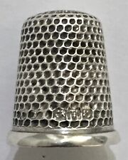 More details for chester charles horner sterling silver thimble hallmarked 1908 antique