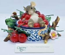 """Fitz and Floyd Charming Tails """"Life is a Bowl Full of Cherries"""" Figure 89/135"""