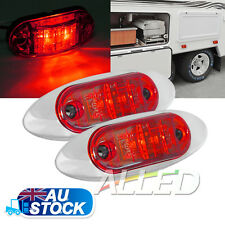 2X12V Red  LED Sleek Side Marker Clearance Light Indicator Trailer Truck Lamp