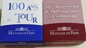 Monnaie de paris Silver Coins - Normandy anniversary & tour de France