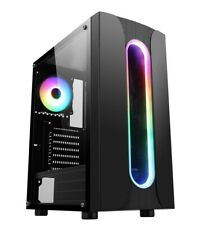 CiT Sauron ARGB Gaming Mid Tower Case With Tempered Glass Window Black 120mm