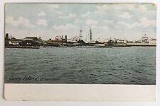 NY Postcard Coney Island Brooklyn Ocean View sky line waterfront rides buildings
