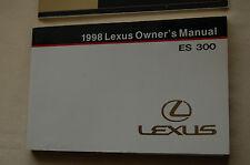 Owner's Manual for 1998 Lexus ES300 OEM