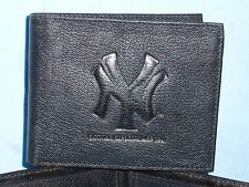 New York NY YANKEES  Leather BiFold Wallet  NEW  black