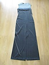 JEAN PAUL GAULTIER ? SAGE GREEN STRETCH VELVET MAXI EVENING TEXTURED DRESS UK 12