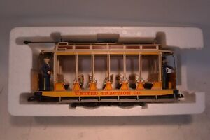 G SCALE BACHMANN NO.93938 OPEN STREETCAR UNITED TRACTION Train