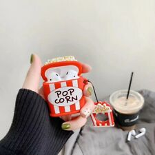 Cute 3D Cartoon Popcorn Headset Airpods Charge Case Cover For Airpod + Ring