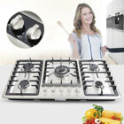 5 Burner Gas Cooktop Stove Top Stainless Steel Built-In Natural Gas Cooktops USA photo