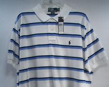 Men's Ralph Lauren Polo Blue & White Striped Classic Mesh Polo Shirt  XXL-  NWT