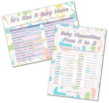 Baby Shower Party Games - 2 GAMES - ITS A BABY NAME / BABY A to Z     20 players