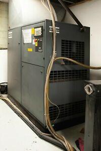 Atlas Copco GA37 50 HP Rotary Screw Air Compressor + General Pneumatics Dryer