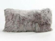 Luxurious Fur Alpaca Pillow Gray, Alpaca fur pillow cover, Square All sizes