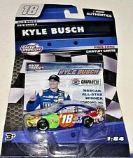 KYLE BUSCH 2018 1/64 NASCAR AUTHENTICS #18 CARAMEL M&M'S TOYOTA CAMRY WAVE 2 NEW