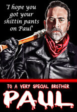'THE WALKING DEAD' NEGAN Personalised Birthday Card!! ANY NAME,AGE, RELATIVE !!