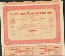 Mines de CHO DON (INDOCHINE) (V)