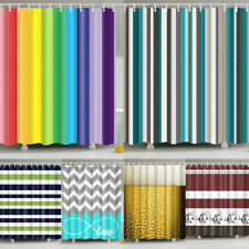 Stylish Geometric Pattern Shower Curtain With 12 Hooks Waterproof Bathroom