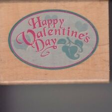 "valentines plaque Canadian maple Wood Mounted Rubber Stamp 1 1/2 x 2"" Free Ship"