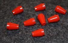 (8) 1x1 Red Cone Brick Bricks ~ Lego ~ NEW ~