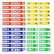Plastic Microscope Slides Biological Specimen with Boxes for Children 12pcs*4