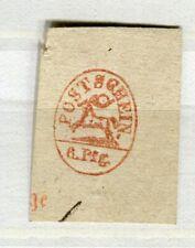 GERMANY; 1860s POST SCHEIN 6pf. early classic Postal Stationary Piece