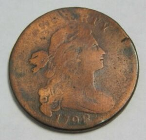 1798 - U.S. Large Cent - Draped Bust - Style 2 Hair