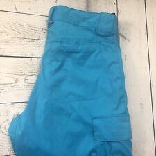 DC Shoes Women's XS Blue Exotex 5000 Contour Snowboard Ski Snow Cargo Pants